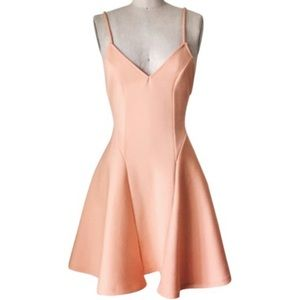Nasty Gal Coral Ballerina Night Out Dress